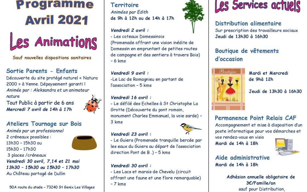 Programme Avril 2021